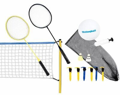 Volleyball- & Badminton-Set Volleyballnetz Volleyball Netz Ball all incl. Scatch