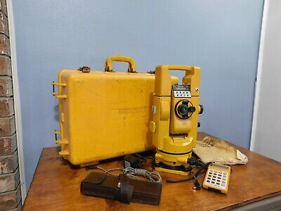 Topcon GTS-2B EDM Theodolite Geodetic Total Station & Calculator & BT-3Q Battery