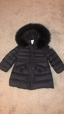 Baby Girls Moncler Coat Navy Age 2. Great Condition RRP: £455