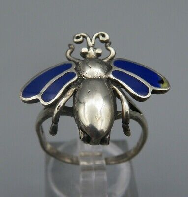 Giftring Silber 925 blaues Emaille Gr. 60 (A)