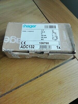 Hager RCBO 32 Amp 30mA Type C 32A