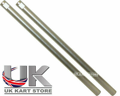 Go Kart M8 Track Rod 190mm Round Silver x 2 Race Racing
