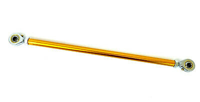 Go Kart M8 Track Rod 190mm Round Gold With Ends Race Racing