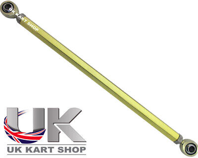 Go Kart M8 Track Rod 190mm Hexagonal Gold With Ends Race Racing