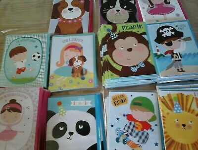 40 Kids Cards, Wholesale Joblot Greeting Cards