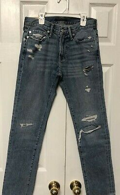 Boys Abercrombie & Fitch Distressed Light Blue Skinny Jeans-Size 28x30