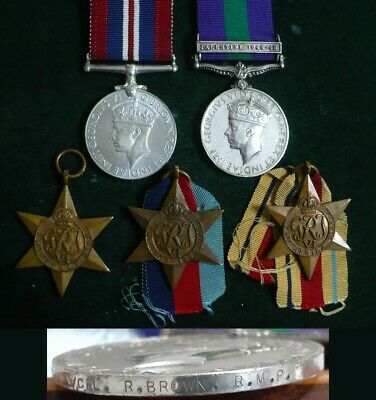 Wwii British Original Military 5 Medals Lot Includes Palestine General Service