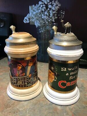 Vintage Camel Stein Limited Edition Lot Of 2 Unique Gift!