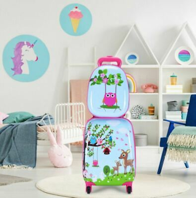Child Luggage Set Suitcase Backpack School Travel Carry On Rolling Set Girls
