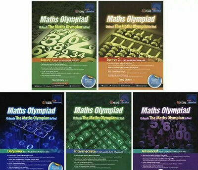 SAP Education Maths Olympiad Junior 1 2 Beginner Intermediate Advanced - 5 Books