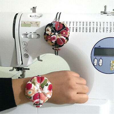 Multi-purpose Floral Wrist Pin Cushion Special Gift Decorative Sewing Machine UK