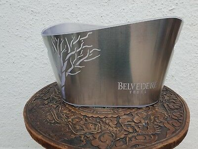 Belvedere Vodka Chrome LED Acrylic Stainless Steel Party Illuminated Ice Bucket