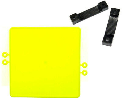 Go Kart Plastic Number Plate Fluro With Fixing Strips And Bolts Race Racing