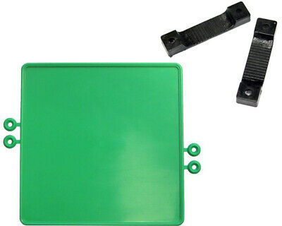 Go Kart Plastic Number Plate Green With Fixing Strips And Bolts Race Racing