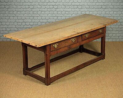Antique Welsh Sycamore Top Farmhouse Kitchen Table c.1820.