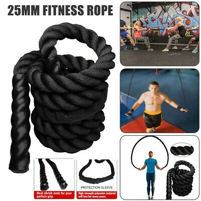 25mm Fitness Heavy Jump Rope Crossfit Weighted Battle Skipping Ropes Power Sport
