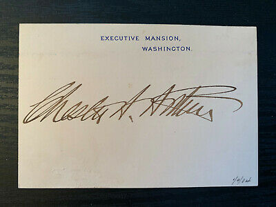 President Chester A Arthur Signed Executive Mansion Card PSA/DNA Certified COA