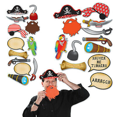 (12) Pirate Photo Fun Signs prtd 2 sides w/different designs