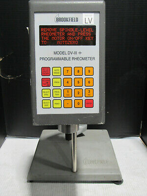 Brookfield DV-III+ Base Unit and Programmable Rheometer Tested and Working