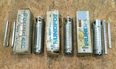 Lot of (3) Grundfos Stainless Submersible Water Pump #9219, 9241, 9127