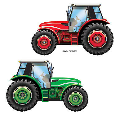 (12) Tractor Cutout prtd 2 sides w/different colors