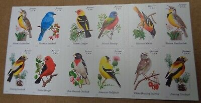 Songbirds Forever booklet sheet of 20 US Postage stamps Scott # 4882-91 birds