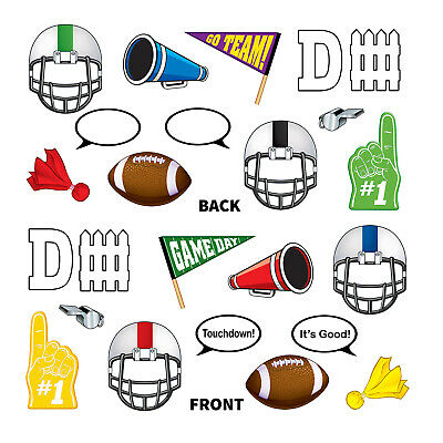 (12) Football Photo Fun Signs prtd 2 sides w/different designs