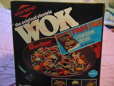 Vintage West Bend Electric WOK Red Mod. 79556 Working