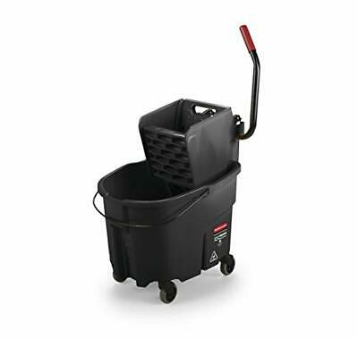Rubbermaid Commercial WaveBrake 2.0 35 QT Side-Press Mop Bucket and Wringer,