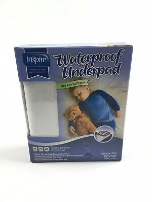 Inspire Waterproof Underpad  39 in. x 54 in. Fits Any Size Bed