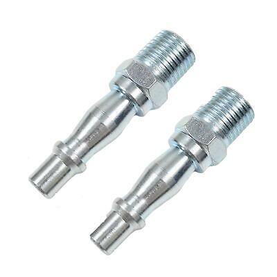 """Air Line Hose Compressor Fitting Connector Quick Release Set Male 1/4"""" Bsp 2Pc"""