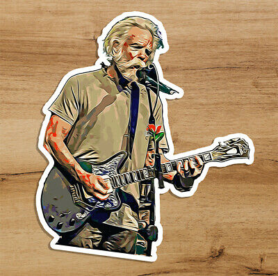 Grateful Dead Bob Weir Drawing Psychedelic Premium Quality Sticker 3 in