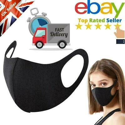 Face Mask Black Protective Breathable Anti-allergic Mouth Washable Protection