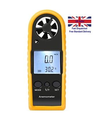 LCD Digital Wind Speed Scale Gauge Meter Anemometer Thermometer Sailing Fishing