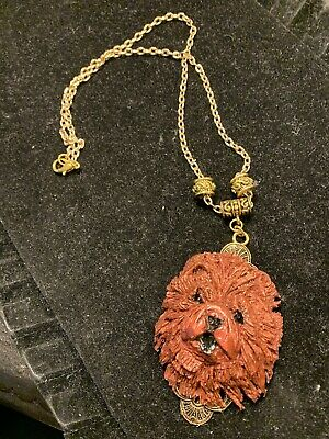 Dark Red Chow Chow Necklace