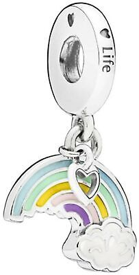 New Genuine Silver Pandora Colourful Rainbow Of Love Charm 797016ENMX RRP £35