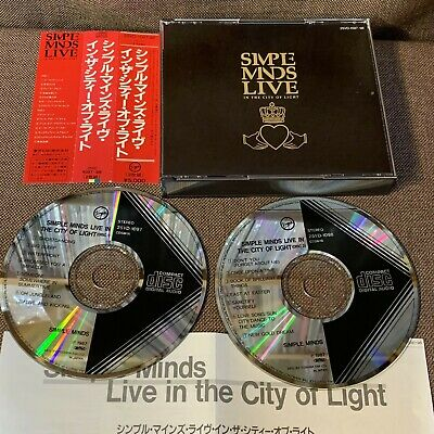 SIMPLE MINDS Live In The City Of Light JAPAN 2CD 25VD-1097~98 OBI Black Triangle