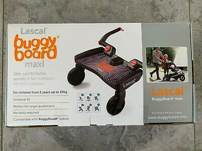 Lascal Buggy Board Maxi - Black **Excellent Condition** All parts incl