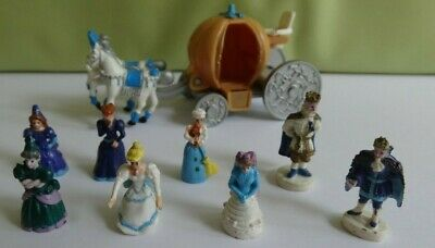 Vintage Cinderella 8x Polly Pocket Figures + Horse & Carriage Trendmaster Disney