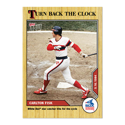 2020 MLB TOPPS NOW Turn Back the Clock #47 Carlton Fisk Chicago White Sox
