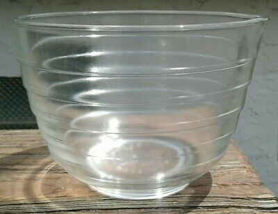 Vintage Pyrex Clear Glass Beehive Ribbed Mixing Bowl Spout Westinghouse #20