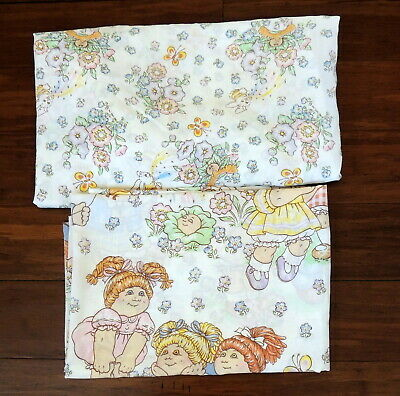 Cabbage Patch Dolls Vintage Twin Bed Sheet Set NO Pillowcase