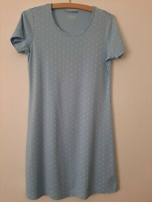 Ladies LANDS' END Nightdress Nighty.  Blue White Spot.  Size S - Small.