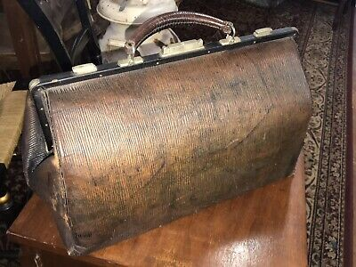 Beautiful Antique Doctor's Bag with Key