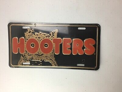 Rare Original Hooters Restaurant Licence Plate Factory Sealed !! 1980'S 1990'S