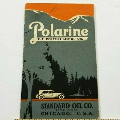 Antique 1920s POLARINE Perfect Motor Oil Booklet STANDARD OIL CO CHICAGO A4