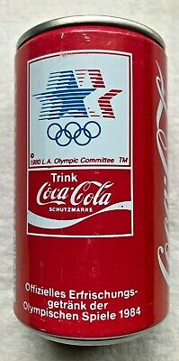 Very Rare!  1985 Coca Cola Coke Can Germany Los Angeles Summer Olympics 1980