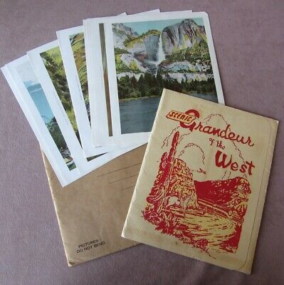1943 Southern Pacific RR Scenic Grandeur Of The West 16 Color Prints w/Folder