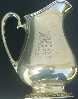 Vintage Silverplate Trophy Golf Trophy PRINCETON COUNTRY CLUB 1955