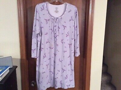 Women's night gown Simply Basic Brand - Size 3X (22W-24W) - Light Purple
